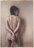 Standing Male Nude from behind by birchley