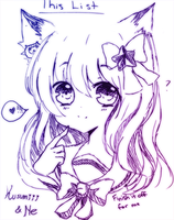 Collab Doodle by Kusumiii
