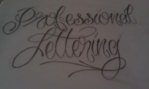 prof lettering by GeertY