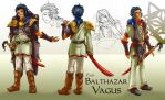 Balthazar Vagus character design by Taleea