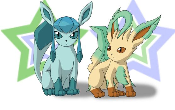Glaceon and Leafeon by LozAnime