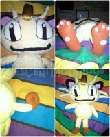 Meowth Plush by CrescentMoon96