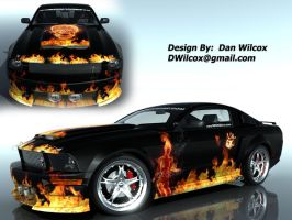 Mustang Design Contest Flames by nascar3d