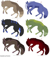 Wolves adoptables by PirateLila