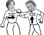 Laura Bush and her Hubby by CayQel-Dromathegood1