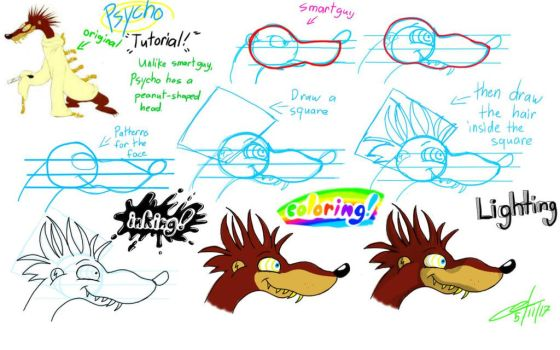 Psycho Weasel Tutorial by migzimixtup