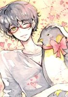 Valentine's with penguins by fuwishi