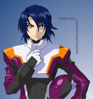 Athrun Zala in ORB Flightsuit by FrostyWolf