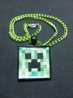 Minecraft Creeper Necklace by Monostache