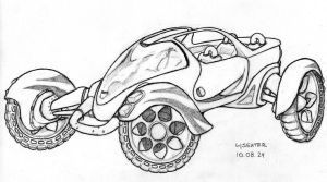 4Seater Sketch by ohida