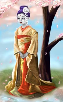 Smaller geisha raven by limey404