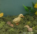 1:12 Scale Miniature Duckling handmade by AGZR-STUDIOS