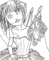 Doll Lineart by Sanate