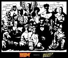 JSA Meets Hellboy - Draft PS by Gat0rl1veBEATZ
