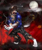 Halloween 2010, Werewolf tf by Ageaus