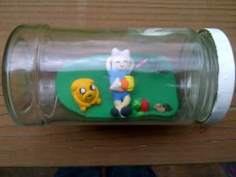 Adventure Time in a Jar  :picture 1: by ChloeyLovesLlamas