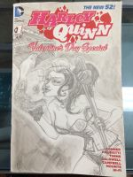 Harley Quinn sketch cover with portrait  by FWACATA