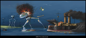 HMS Thunderchild by NE-Railway-Artist