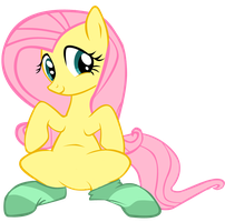 Fluttershy and her green socks by polar-pixel