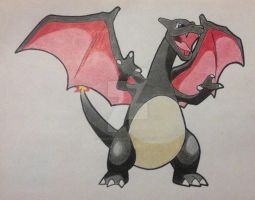 Shiny Charizard by RedDeadRAVAGE