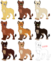 Female Cubs Adoptables2 CLOSED by MikasAdoptables