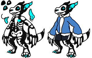 [UNDERTALE THEMED] T-RhinoCroc Auction by Mulch-Adopts
