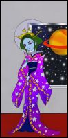 Cyber Space Geisha colored by moonywerecat