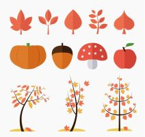 12 Flat Autumn Plant Vector by FreeIconsdownload