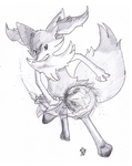 Prize Art- Braixen by PitchBlackEspresso