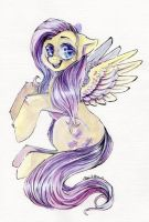 Fluttershy Painting by Busoni