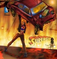 Supergirl up Car by tecnoguru