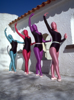 Elegant ballet dancers in zentai by purplejessica