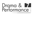 Drama and Performance title page, rough #1 by texnical-reasons
