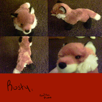 Rusty my new red fox plushie by FoxSock