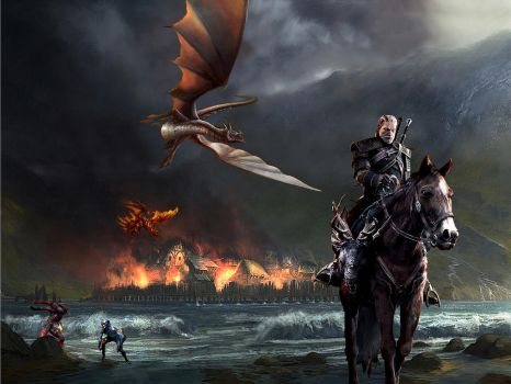 Witcher 3: Riding out like a boss by Skal0man