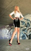 Danca Black Skirt White Blouse 03 by malkiss