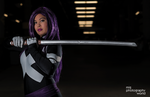 Comikaze 2014 Psylocke Photoshoot 10 by RonBirdArt