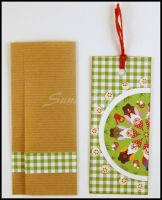 Bookmark - scrapbooking - cute gnomes by SuniMam