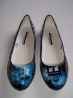 Hand Painted Doctor Who Time Vortex shoes by arteclair
