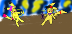 fight este and sis by TribalTripleN