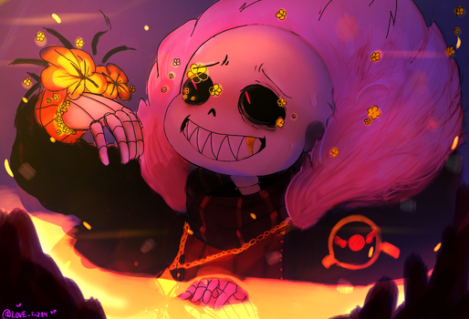 Flower fell sans  by LovelyArtist1234