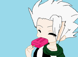Chibi Toshiro eating a Popsicle by xDerin-Chan