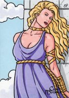 Aphrodite Sketch Card 2 - Classic Mythology by ElainePerna