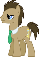 Necktie'd Doctor Whooves by ChainChomp2