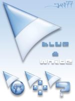 77 blue and white by jani77