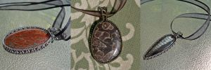 Coated Copper Fossil Wrap Collage by magpie-poet