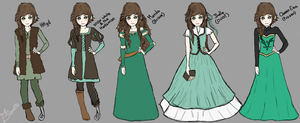Fem Hiccup (Hicca) Alternate Outfits by Buniette