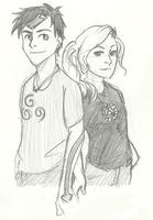 Percy and Annabeth - Avatar and Avengers by Mababwion1