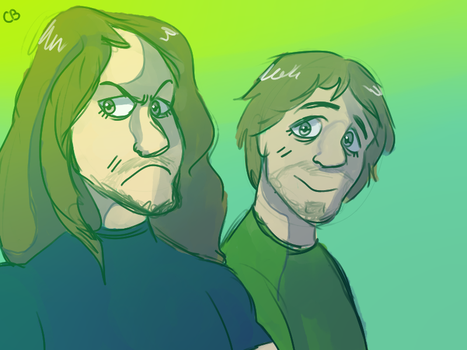joel and vinny by CaptainBrookee