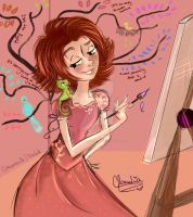 Rapunzel Gift by Claualphapainter-95